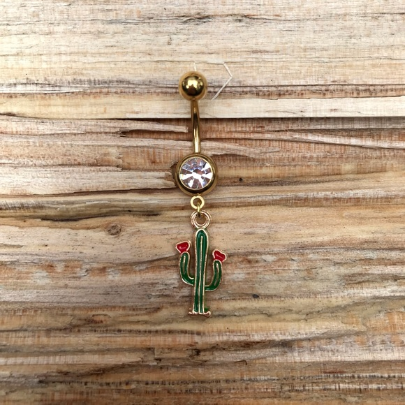 Jewelry Gold Cactus Belly Button Navel Ring Poshmark